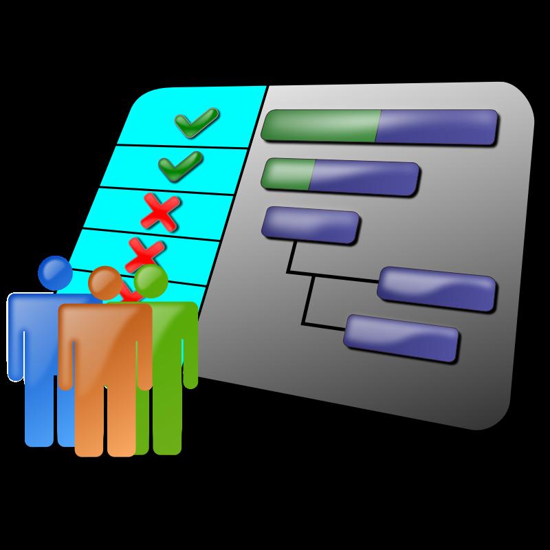 cliparts technology clip project clipart schedule gantt