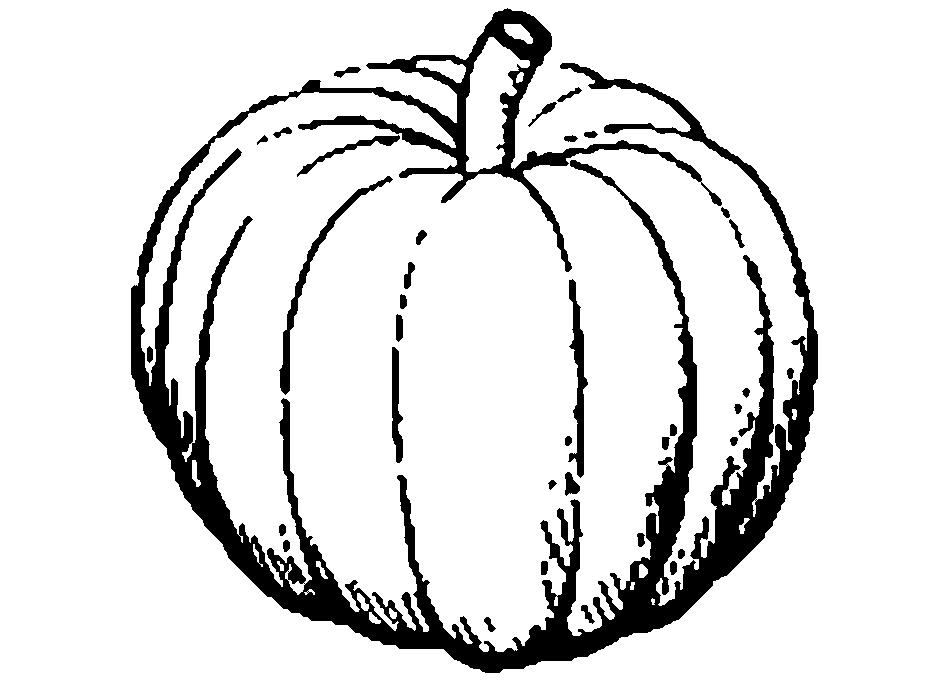 Black And White Pumpkin Clip Art - Cliparts.co