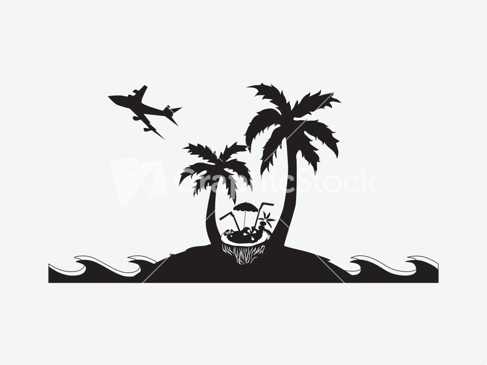 Palm Trees Silhouette - Cliparts.co