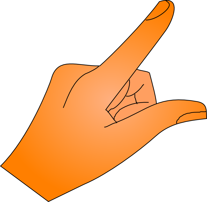finger pointing clip art | Hostted