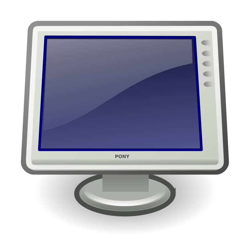 computer monitor clip art clipartsco