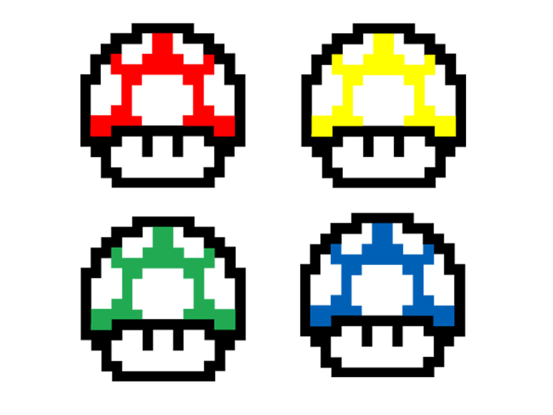 Mario Brothers Vector 1 up clip arts, clip art - ClipartLogo.