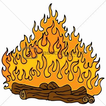 Burning Wood Clipart Logs On A Fire Clip Ar...