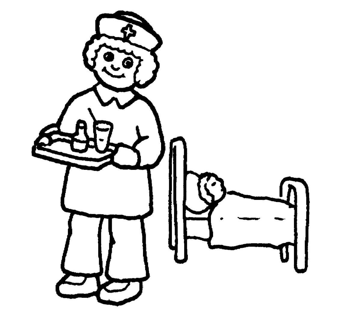 Free Coloring Pages Of Drawing Of Doctors