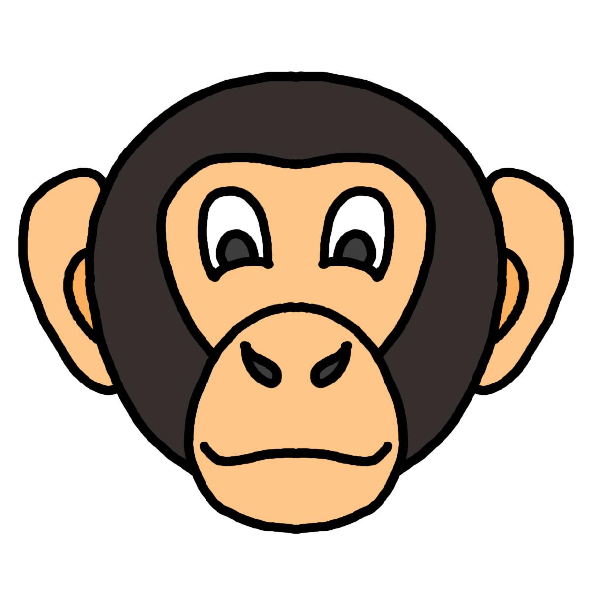 clipart monkey face - photo #44
