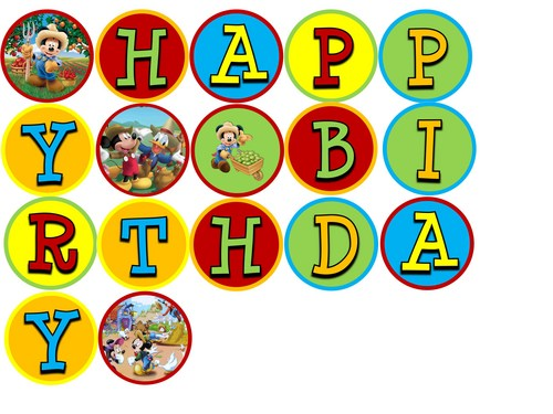 Farmer Mickey Mouse Digital Birthday Banner- YOU PRINT ...