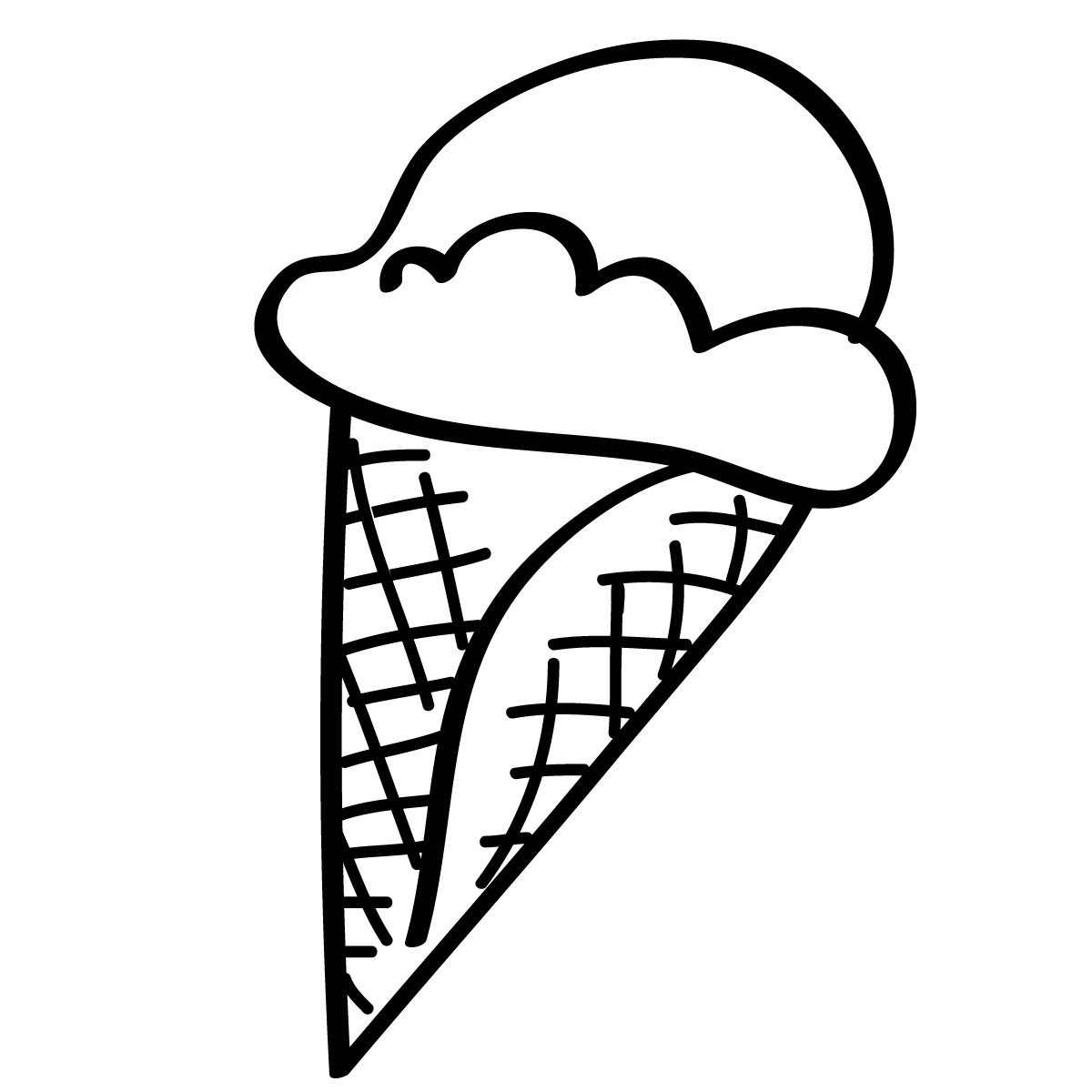 Ice Cream Clip Art Bla...