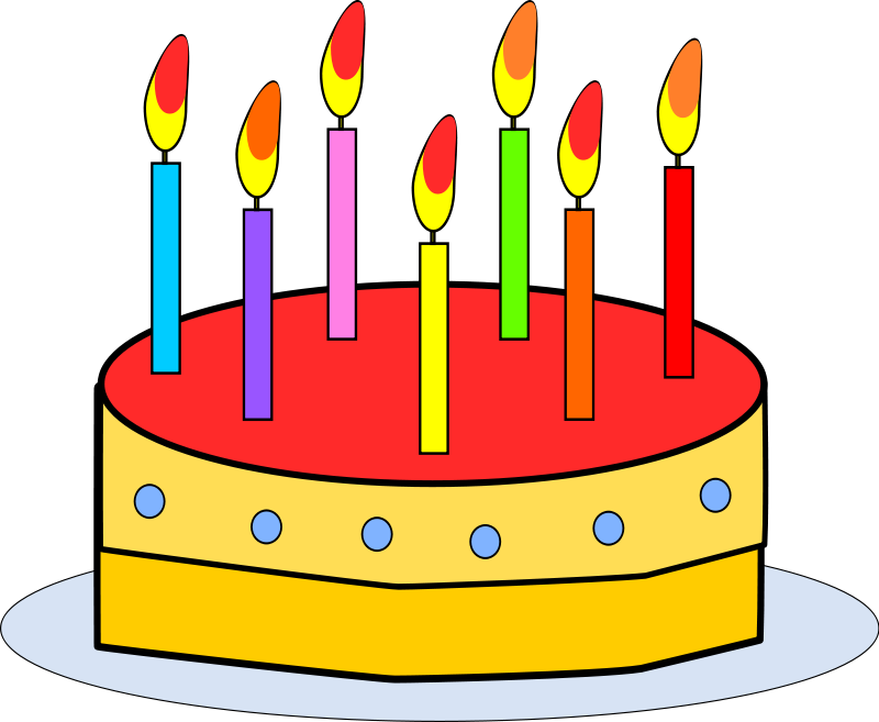 Free Clipart Birthday Cake With Candles Inspiring | Birthday Cakes