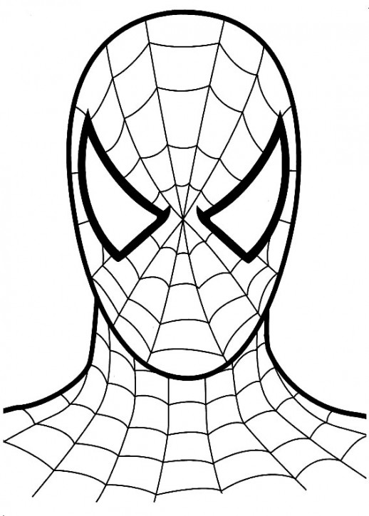 coloring pages spiderman easy symbol - photo#15