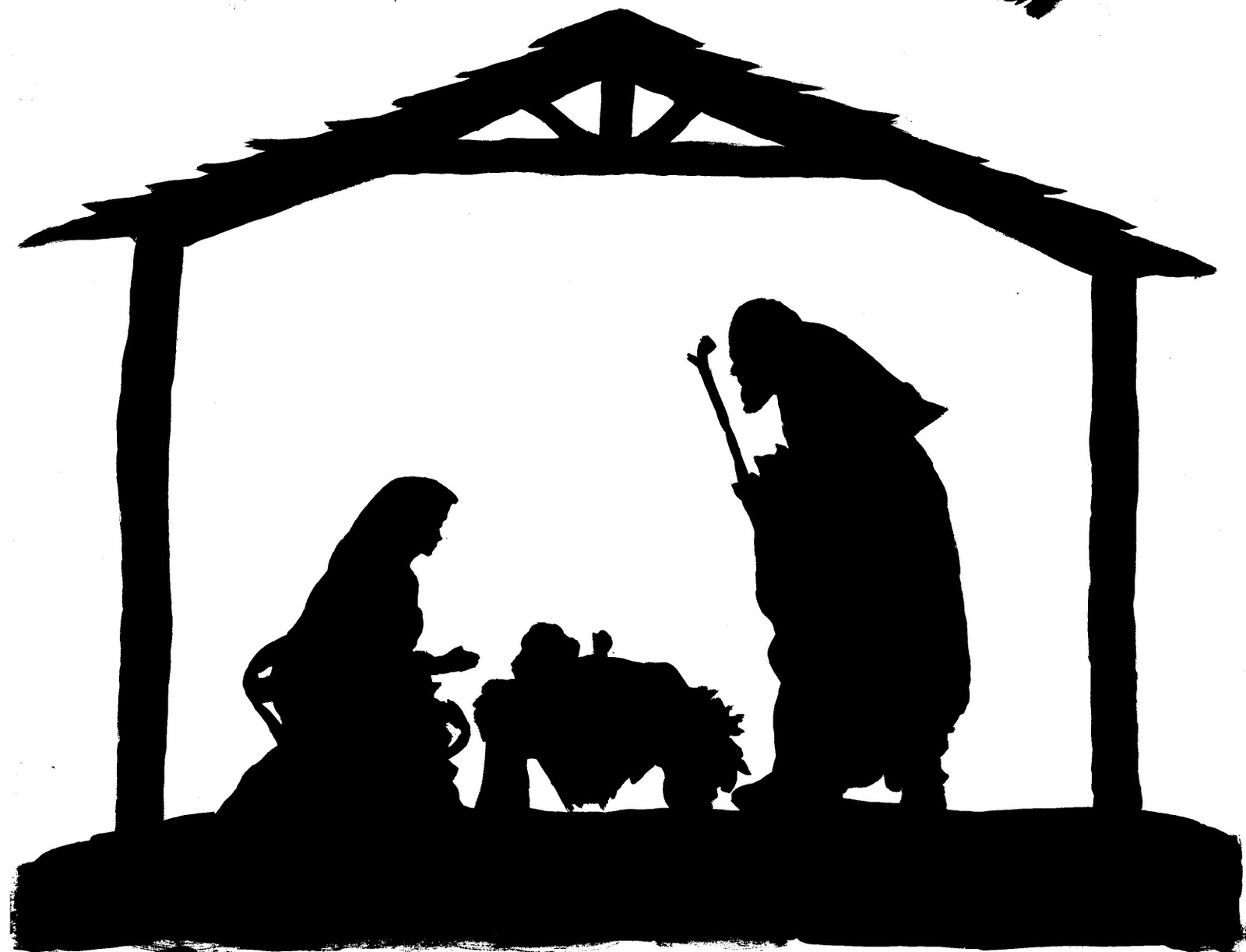 47 images of Nativity Silhouette Patterns . You can use these free ...