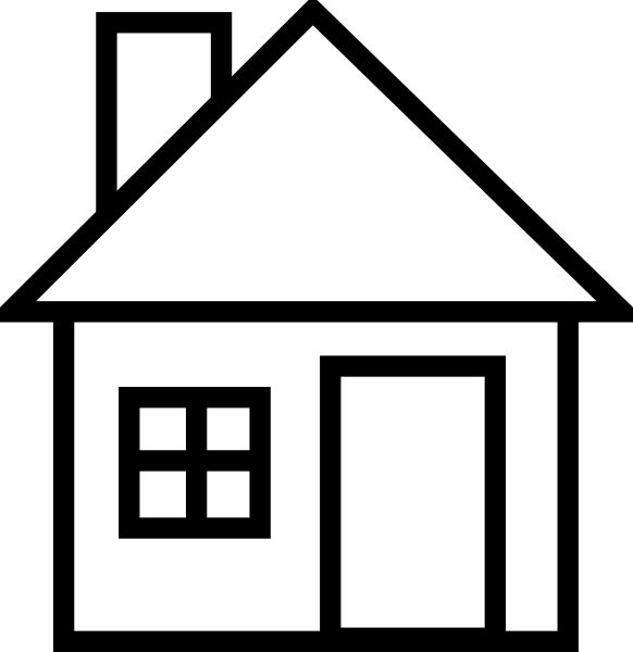 free black and white school house clipart - photo #12