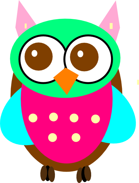 Colorful Baby Owl Chick clip art - vector clip art online, royalty ...