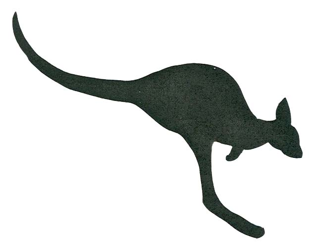 Kangaroo drawing outline - photo#4