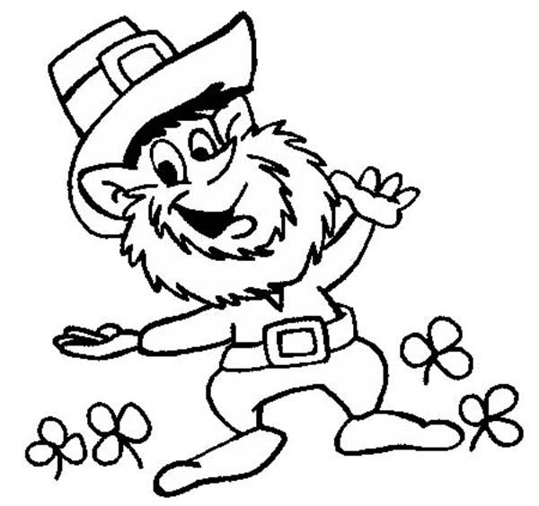leprechaun outline free download clip art sketch coloring page