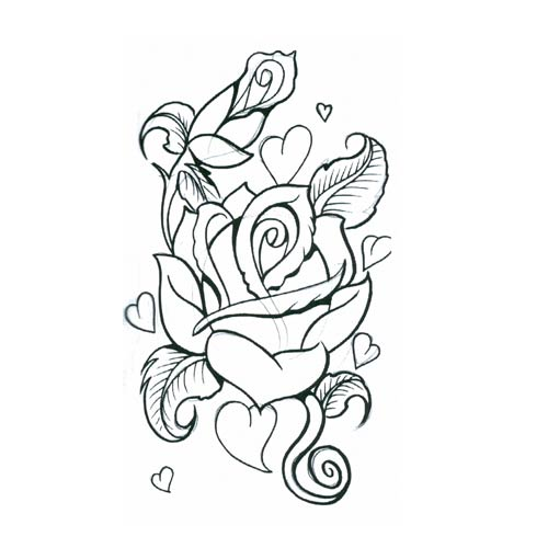 Pencil Drawings Of Hearts And Roses - Cliparts.co