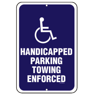 image about Printable Handicap Sign identified as Pix For \u003e Handicap Parking Symptoms Printable -