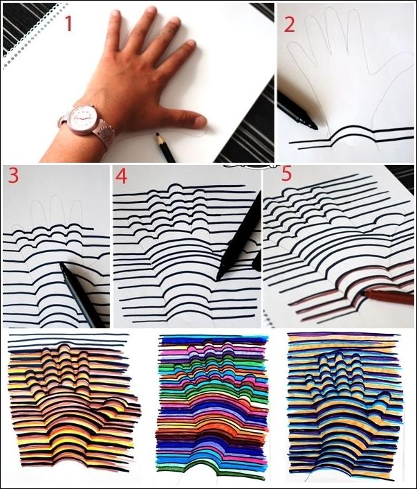 Как сделать 3д картинку своими руками 29