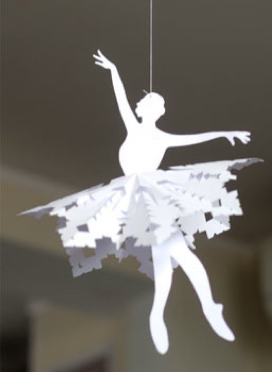 Елочная игрушка своими руками балерина