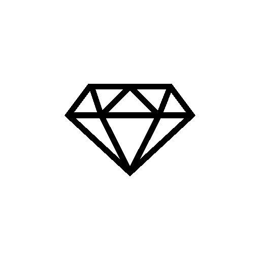 diamond outline clip art clipartsco