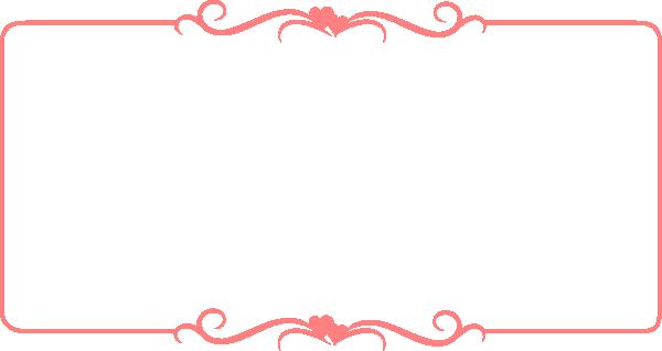 Decorative Pink Border Clip Art Border Line Design Fre...