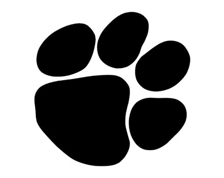Bobcat Paw Print Outline - Cliparts.co