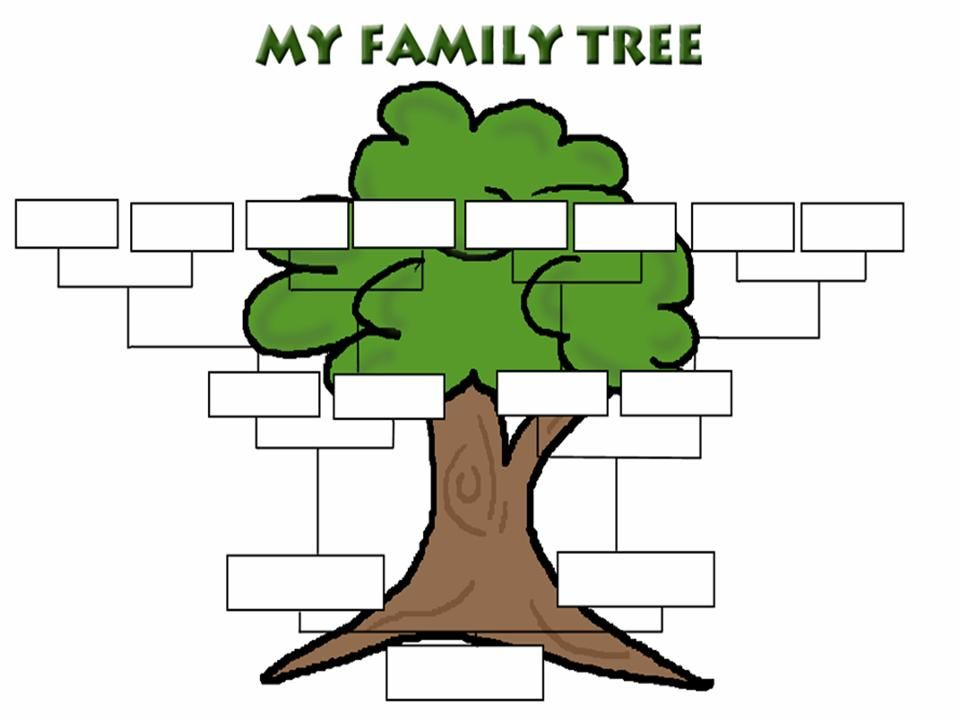 My Family Tree, page 1