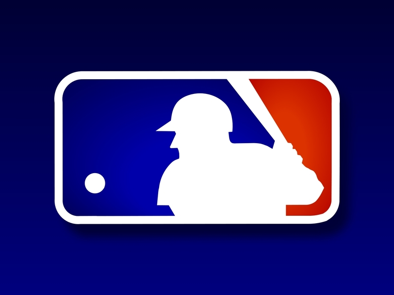 Is the guy in the MLB logo batting left or right handed? : baseball