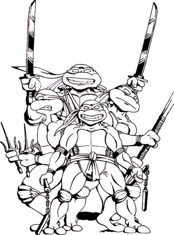 tiger ninja turtles coloring pages - photo#8