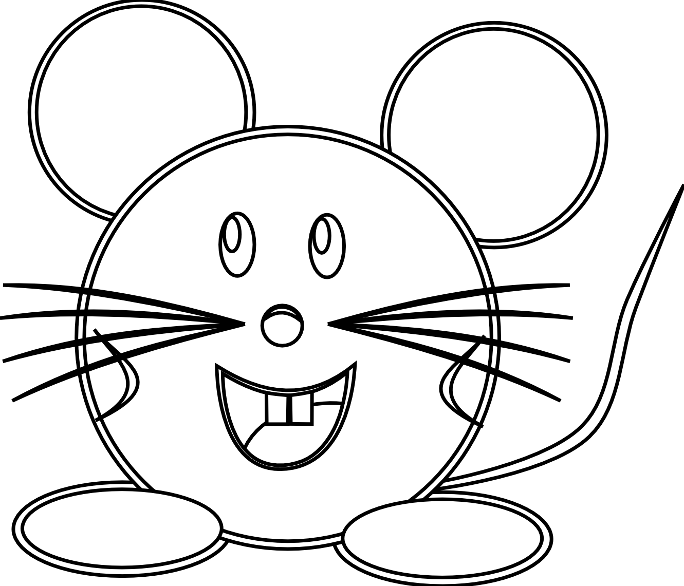 Line Drawing Face Vector : Raton mouse black white line art scalable vector graphics