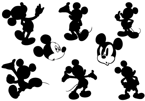 Mickey Mouse Silhouette Graphics | Silhouette Clip Art | Bloglovin'