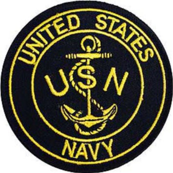 Amazon.com: US Navy Logo Anchor II Embroidered Patch USN Made in USA