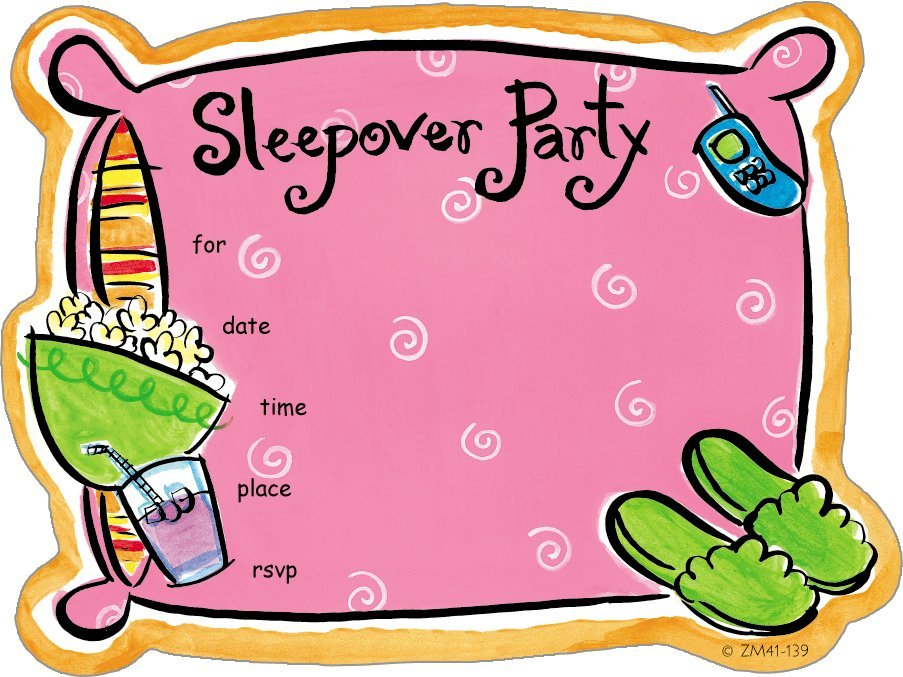 Zoomerang Slumber Party Invite - 8 ct - Free Shipping