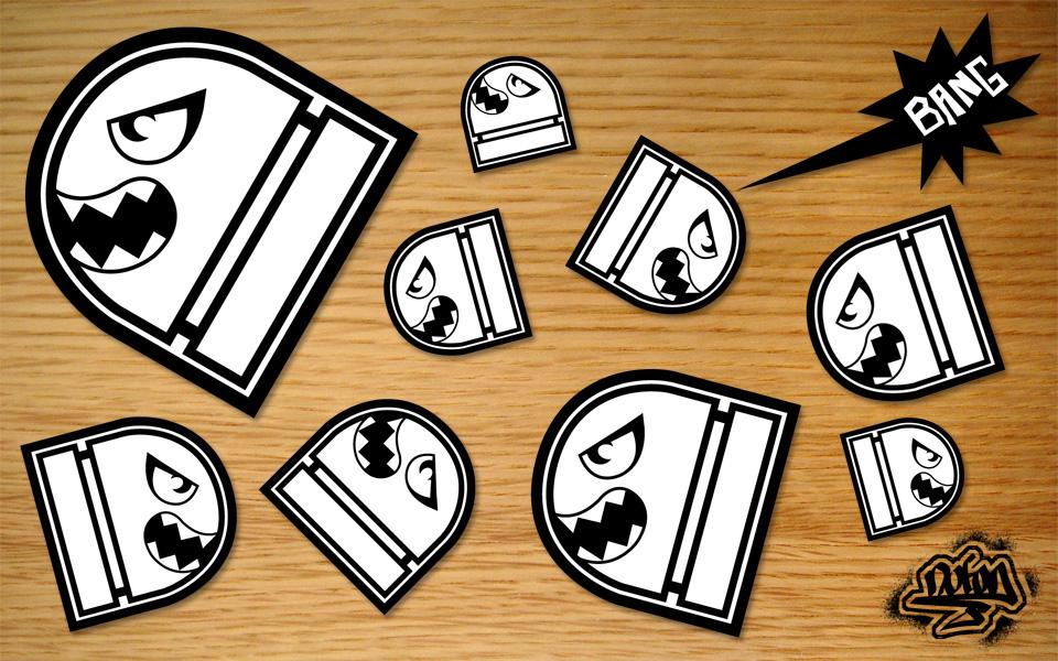 Sticker design - Stickers style industriel ...
