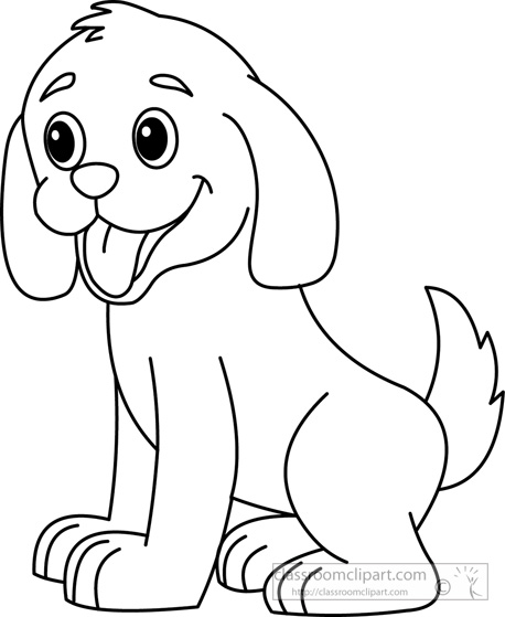 Dog Black And White Clipart - Cliparts.co