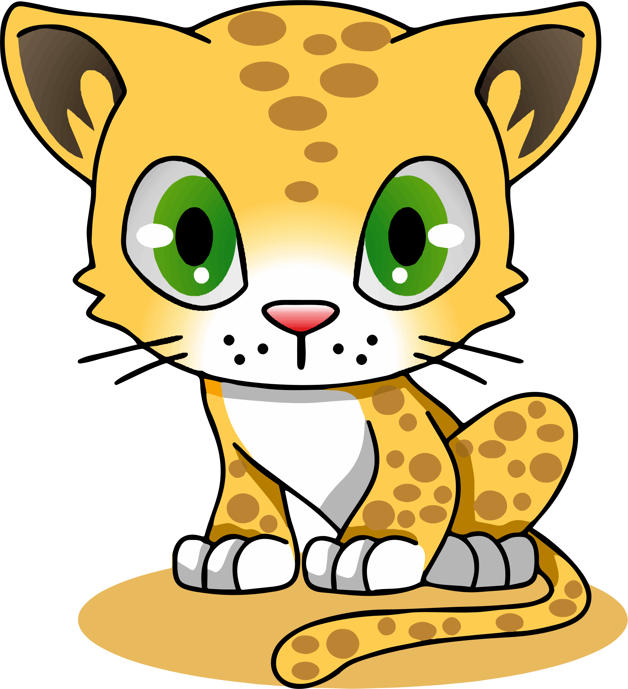 Cartoon Characters Pictures : Leopard cartoon cliparts