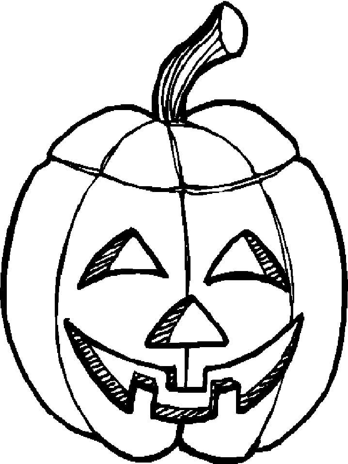 Happy Pumpkin Faces Coloring Pages