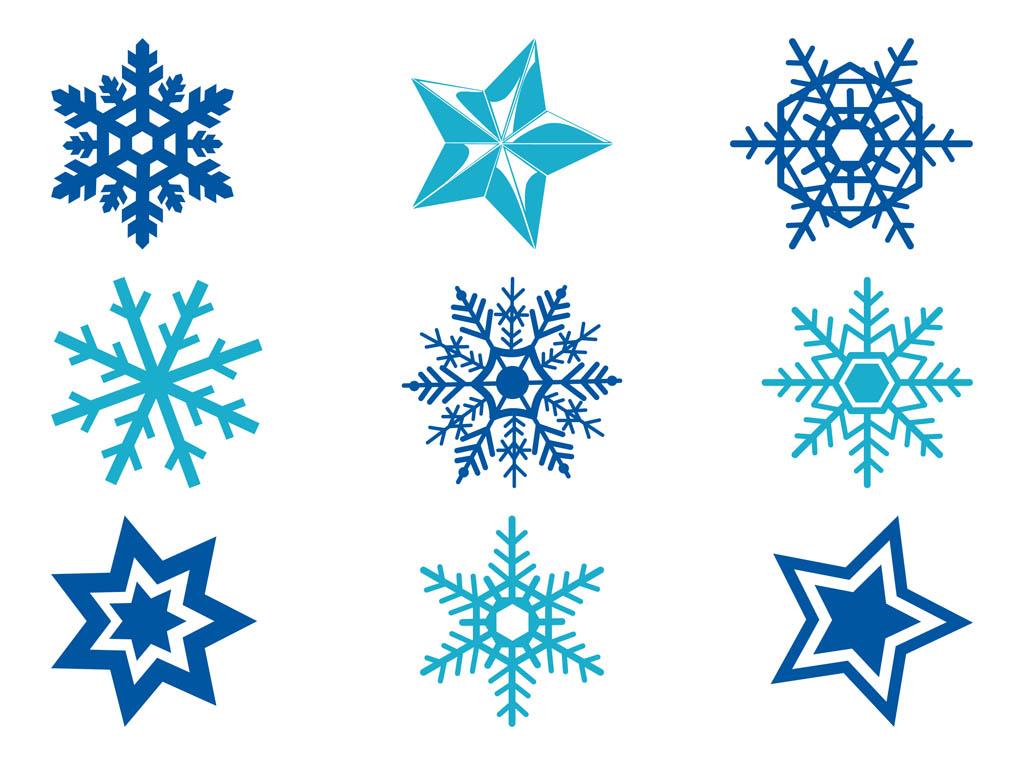 Simple Snowflake Silhouette Free Snowflake Vectors