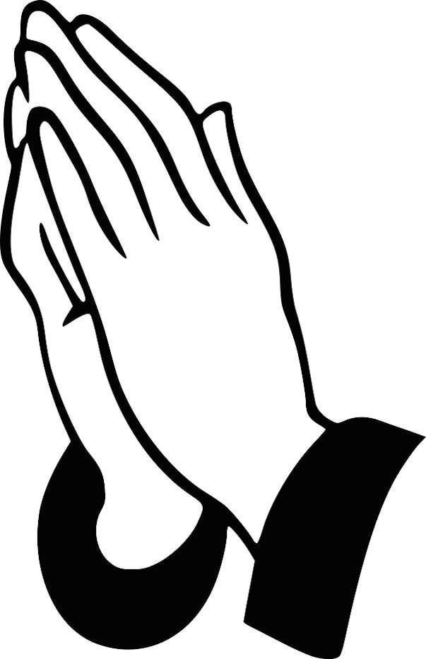 cartoon praying hands
