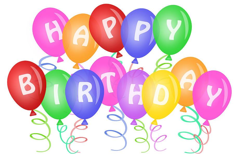 Happy Birthday Balloons Clip Art - Cliparts.co
