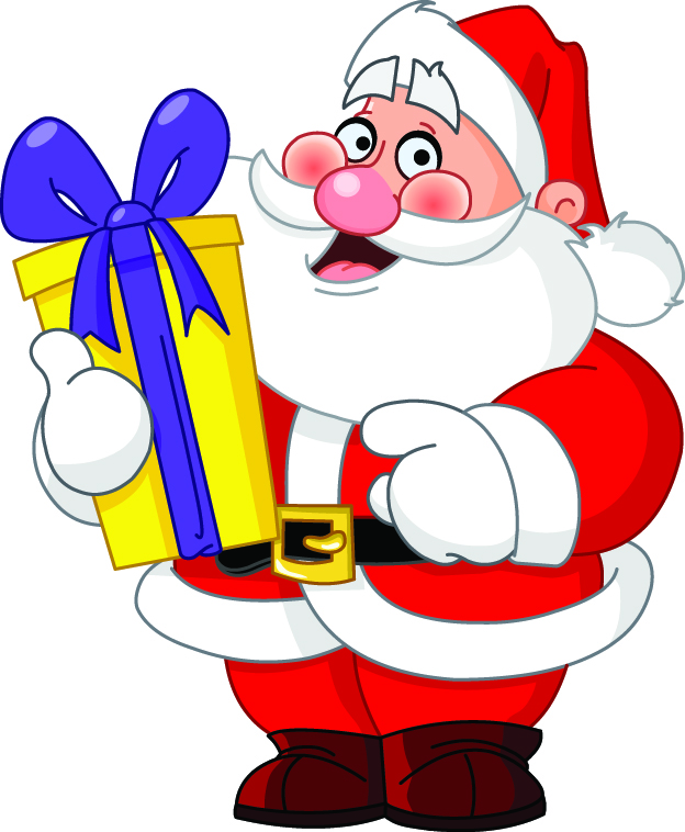 Cartoon santa claus vector Free Vector / 4Vector