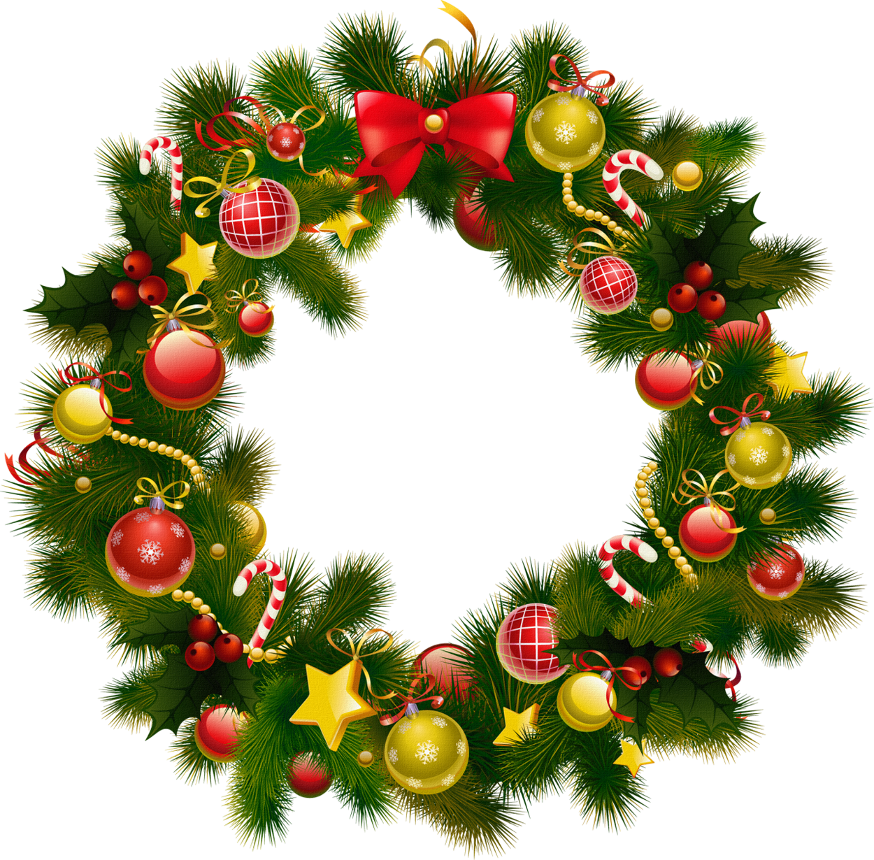 Xmas Stuff For > Free Christmas Wreath Clip Art
