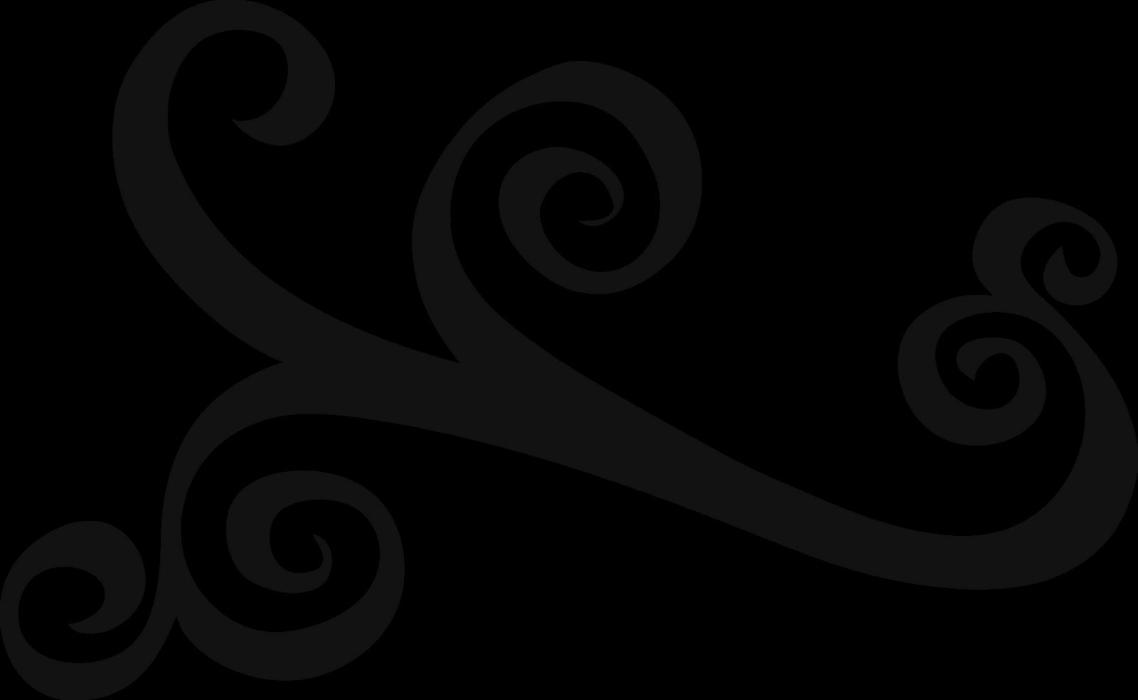 Simple Elegant Line Art : Swirly clip art cliparts
