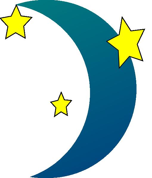 Clip Art Of Sun Moon And Stars