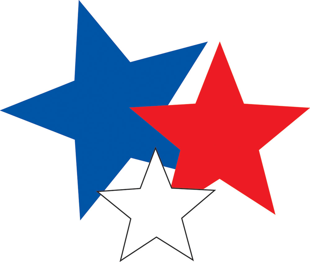 Red/White/Blue Stars Assorted Paper Kids Cut Outs | Eureka School