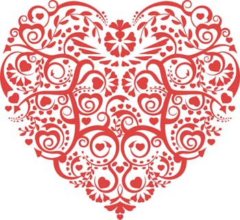 Abstract heart Free Vector / 4Vector