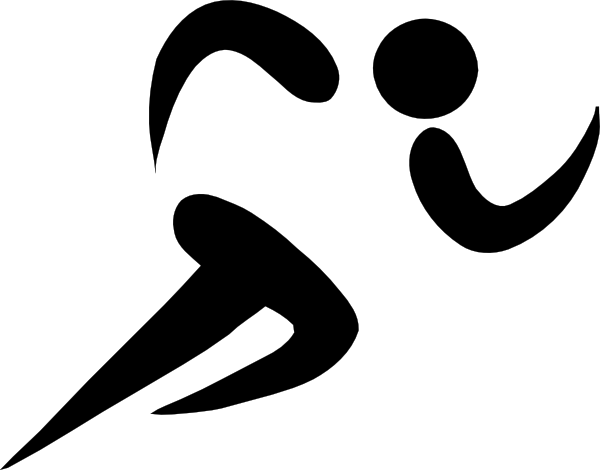 Cross Country Running Symbol Clip Art