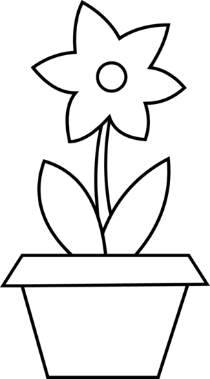 Flower Pot Clipart Black And White | Clipart Panda - Free Clipart ...