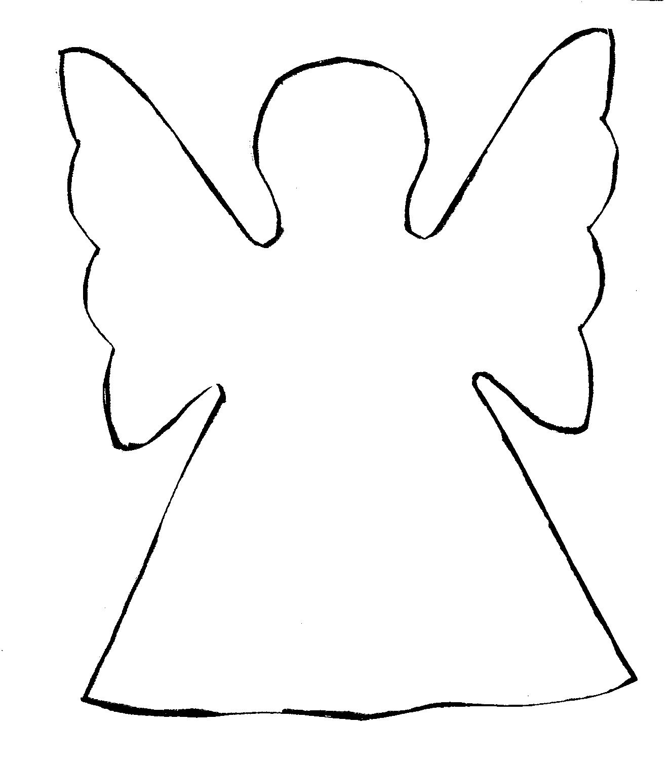 angel outline clip art cliparts co