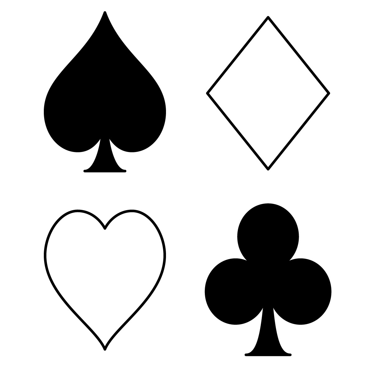 Photos Of Playing Cards Cliparts Co Card Coloring Page