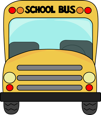 School Bus Front Clip Art - School Bus Front Vector Image